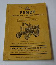 Teilekatalog Ersatzteilliste Fendt Traktor Schlepper F 15 G / GH F 20 G / GH
