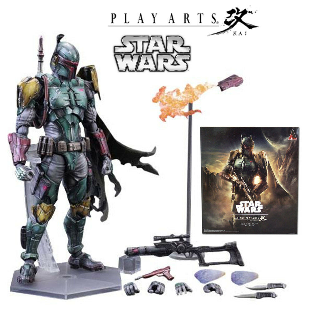 SQUARE ENIX VARIANT PLAY ARTS KAI STAR WARS BOBA FETT ACTION FIGURE FIGURINE TOY