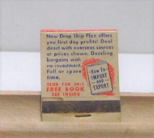 Home Import Business Buy Below Wholesale Vintage Matchbook Ebay