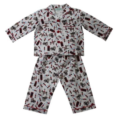 Boys Traditional Cotton Soldier Pyjamas Powell Craft Age 1-2 6-7 4-5 2-3 8-9