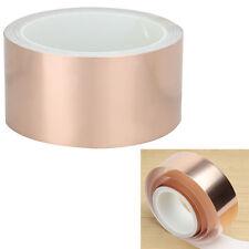 50mm x10M CU Copper Foil Tape EMI Shielding Electric Guitar Slug Snail Barrier