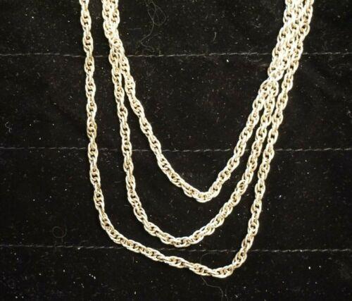 """SILVER .999 Twist Multi Chain Necklace 20.5"""" 3MM"""
