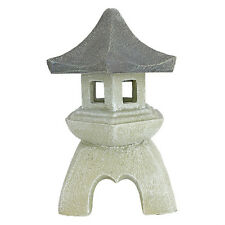 Garden Statue Sculpture Lantern Japanese Asian Inspired Resin Stone Pagoda New