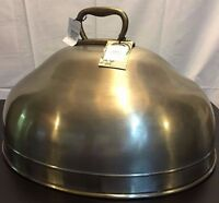 Pottery Barn Cavo Turkey Cloche Brass & Stainless Brand In Box Rare