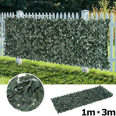 3m Artificial Ivy Leaf Hedge Roll Privacy Fence Screen