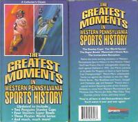 Vhs: Greatest Moments Western Pennsylvania Sports.....new