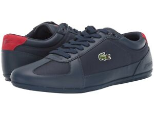 Uomo-Scarpe-LACOSTE-evara-119-1-CMA-Fashion-Scarpe-da-ginnastica-37CMA0034144-Blu-Marino-Rosso