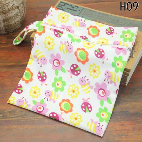 Infant Waterproof Zip Wet Dry Bag Baby Cloth Diaper Nappy Pouch Vogue lskn