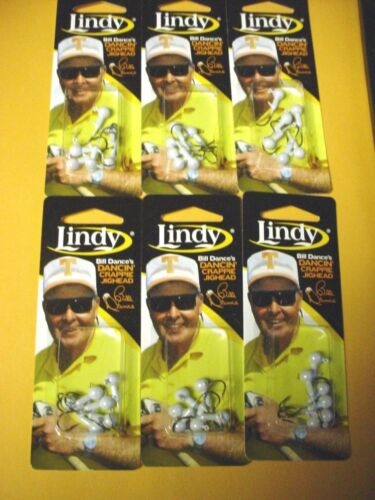 6 Packs 1//32OZ PRL WHITE LINDY LCJH100 BILL DANCE/'S DANCIN/' CRAPPIE JIGHEADS