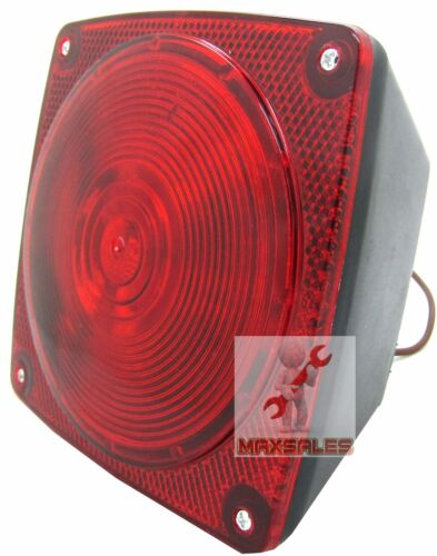 New 6 Function Trailer Light Stop Turn Tail Light Taillight Square Red