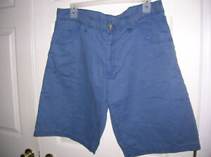 walking-shorts-SIZE-38-Mens-blue-cotton-Summer-wear-open-trails-casual-T21