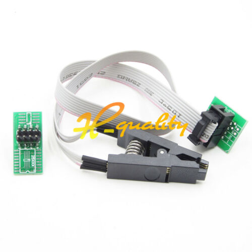 2 Adapters For EEPROM 93//25 //24Cx SOIC8 SOP8 Test Clip in-Circuit Programming