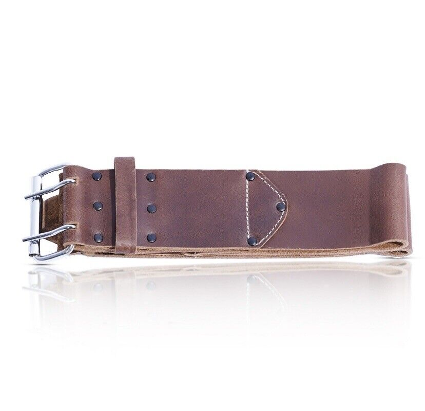 """Leather Craft Heavy Duty 3"""" Inch Brown Oiltan Tool Belt"""