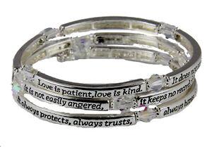Love Is Patient Coil Wrap Bracelet