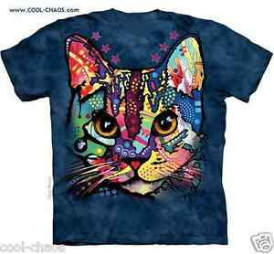 4fb87b48 Calico Kitten Rainbow Kitty Cat T-Shirt / Tie Dye Cat Tee/Graffiti ...