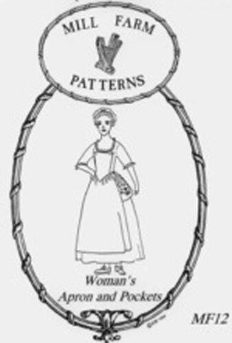 18th Century Apron /& Pockets Pattern by Mill Farm Patterns *