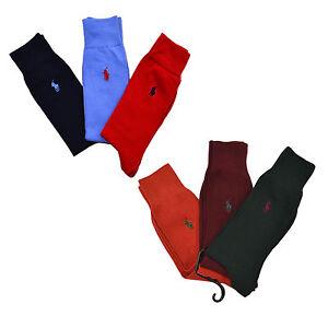 Polo-Ralph-Lauren-Dress-Socks-3-Pack-Mens-Pony-Logo-Professional-Three-Combo-New