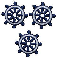 Marine Wheel Nautical Boat ship,Sun,Eye Badge Embroidery Iron On Applique Patch