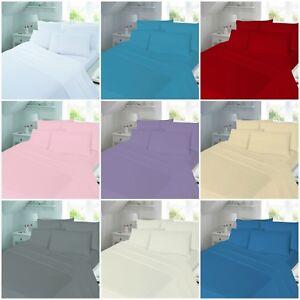 100-Brushed-Cotton-Flannel-Plain-Duvet-Quilt-Cover-Bedding-Set-All-Sizes
