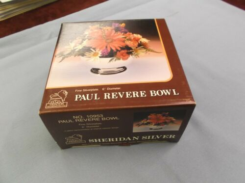 "Paul Revere Bowl Sheridan Taunton Silversmiths 6/"" Dia 10953 new in box"