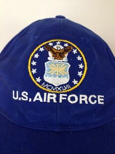 cef8ba859 US Air Force USAF Blue 100% Cotton Embroidered Baseball Cap Hat ...