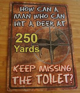 Image Is Loading Funny Deer Hunter Hunting Cabin Lodge Bathroom Home