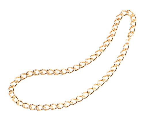 "Fancy Dress Gold Chain 24/"" Heavy Duty Pimp 24 Inch Gangster Necklace"