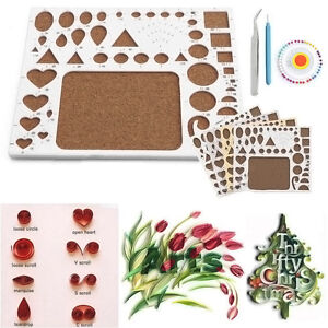 about Paper DIY Quilling Tools Template Mould Board + Tweezer +Pins ...