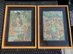 Signed-Listed-Artist-IDA-WARTA-Painting-On-Silk-Bali-Indonesia