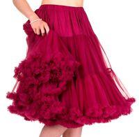 Banned 50s Dress Rockabilly 26 Petticoat Vtg Super Soft Underskirt Burgundy Red