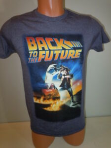 0d001a45f Back to the Future Large Mens T-Shirt Movie Poster Graphic Blue | eBay