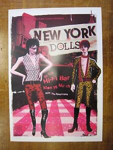 New-York-Dolls-Hi-Fi-Bar-Melbourne-2007-Concert-Poster-Art-Jazz-Feldy