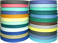 """COTTON BIAS BINDING TAPE FOLDED, 1/2""""/12MM, 33MTR ROLL VARIOUS COLOURS, FREE P&P"""