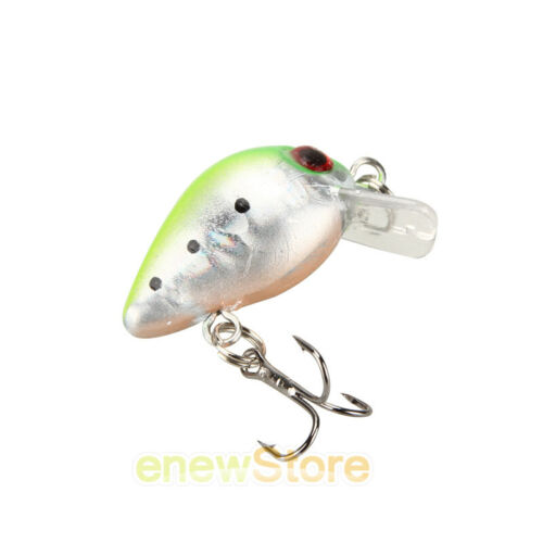 10Pcs//Lot Fishing Lures Kinds Of Minnow Fish Bass Tackle Hooks Baits Crankbait