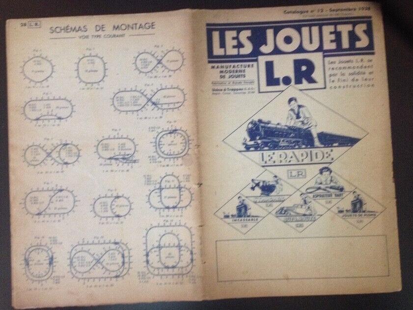 CATALOGUE LES JOUETS LR LOUIS ROUSSY Septembre 1938 - 28 pages + 2 pages tarif