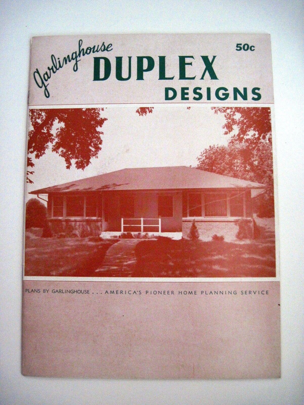 1950's House Plans Booklet  Garlinghouse Duplex Design  Ext.Pics & Floor Plans