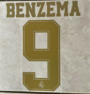 Flocage Nameset BENZEMA #9 Real Madrid 2019-2020 Domicile.