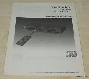 Technics SL-P230 Bedienungsanleitung Deutsch