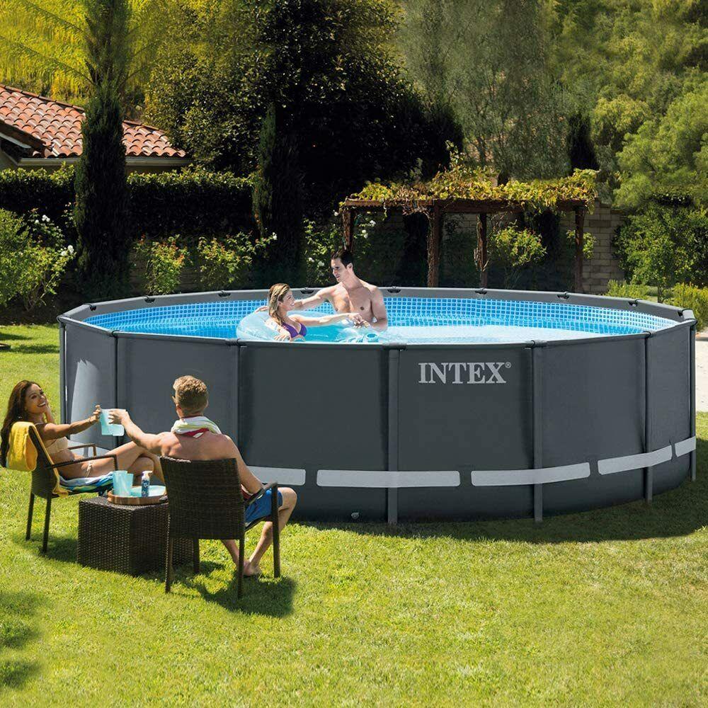 Intex 26330 Above Ground Pool Ultra Frame Xtr Round 549 x 132cm Sand Filter Pump