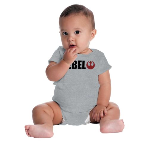 Rebel Star Wars Cool Gift Cute Darth Vader Yoda Han Solo Edgy Gerber Onesies