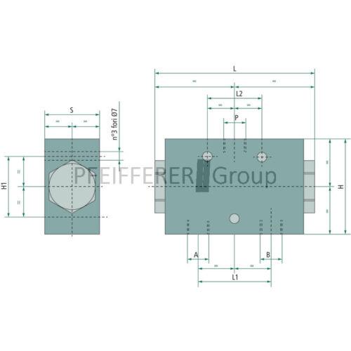 Hydraulik Mengenteiler MTD-10-08 MTD-06-20 24-12 V-Nr