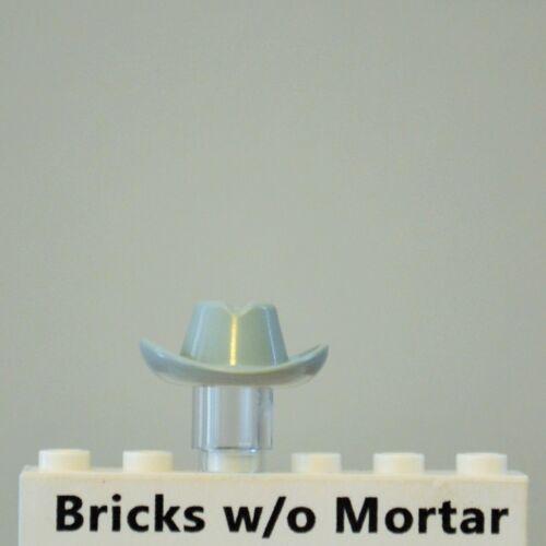 New Genuine LEGO Light Gray Cowboy Hat Western Minifig