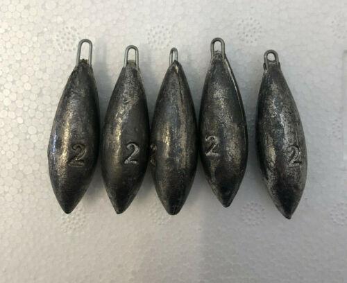 5x 2oz Beach Bombs Sea Fishing Lead Weights