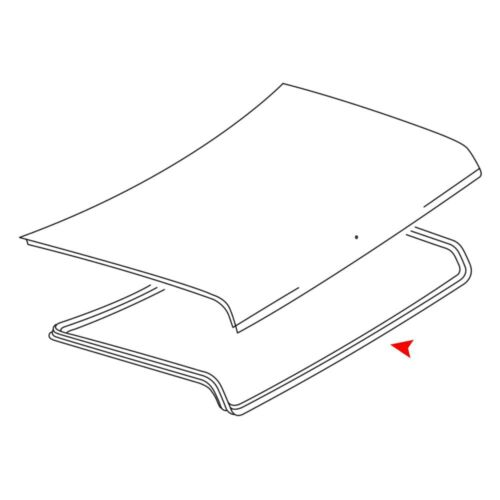 For Mercedes-Benz 300CD 1978-1985 URO Parts Trunk Lid Seal