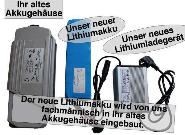 24V / 12AH Yamaha-Kynast Lithiumakku ( LiFe - LiFePo4 ) ) ) inkl. Einbau + Ladegerät f28f71