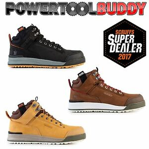 SCRUFFS SWITCHBACK Steel Toe Safety Work Boots Leather Hiker Brown Tan Black