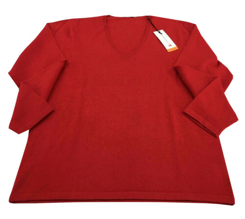 100 Fit Shirt Cachemire Montagut Regular Col Femme V Coupe Fwn104H
