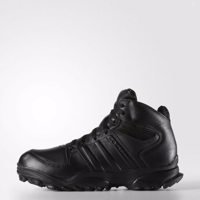 b16b6fdce88a6e Adidas GSG 9.4 Military Boots Black Leather SWAT Combat German Police Shoes