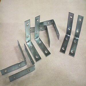 8pc metal corner brace support angle joint support d 39 tag re acier fer pi ce longueur ebay. Black Bedroom Furniture Sets. Home Design Ideas