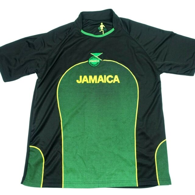 JAMAICA FOOTBALL FEDERATION #10 SOCCER BLACK MEDIUM JERSEY